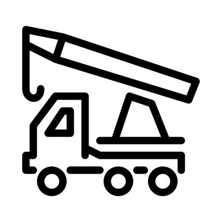 Crane truck - mobile cranes Illustration