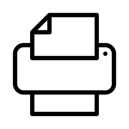 Print Document Button 向量圖像