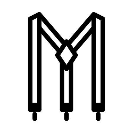 Hosenträger oder Hosenträger aus Stoff Vektorgrafik
