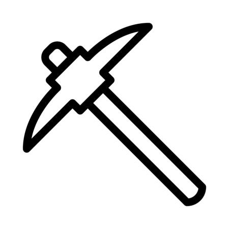 Mining Pick Tool Ilustrace