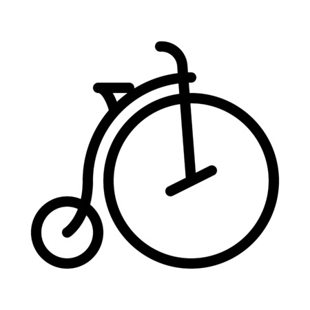 Penny-farthing Vintage Bicycle Vector Illustration