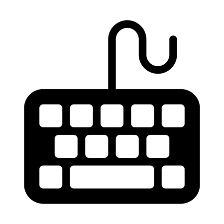Wired Computer Keyboard Ilustrace