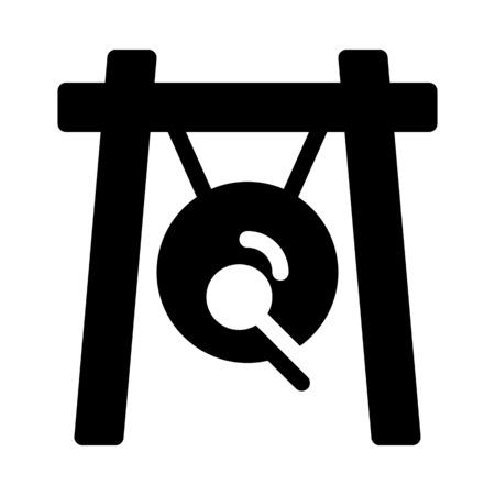 Hanging Gong in Frame