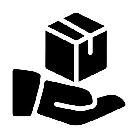 Delivering the parcel Ilustrace