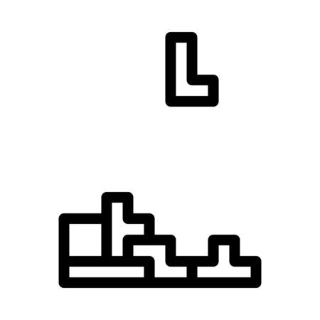 Tetris Puzzle Video Game Illustration