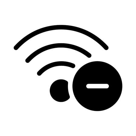Remove Wifi Network Vektorové ilustrace