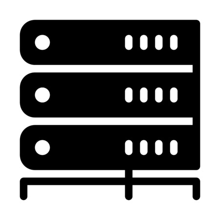 Server Module Stacked Illusztráció