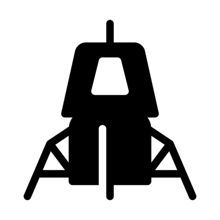 Spacecraft Outerspace Landing Illustration