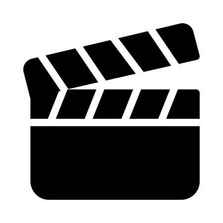 Clapperboard, Video production Illustration