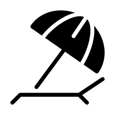 Beach Sunshade Umbrella Illustration