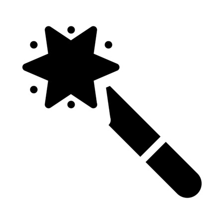 Magic wand tool Stock Illustratie