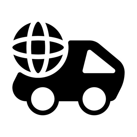 Global Delivery Cargo Иллюстрация