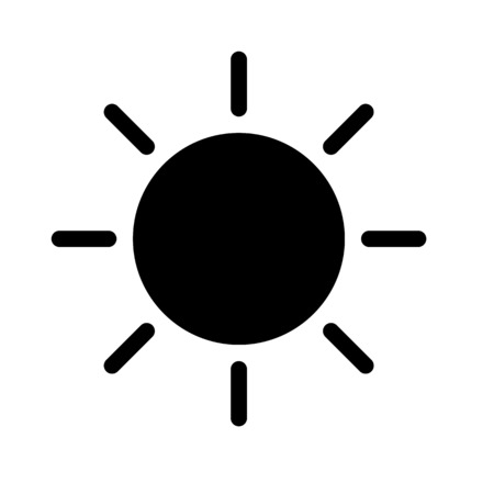 Icona della luce solare Vettoriali