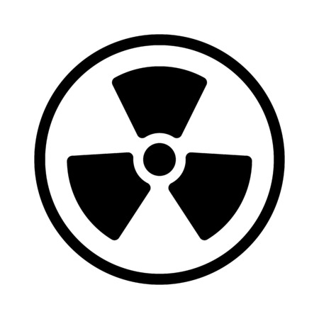Radioactive Nuclear Sign Ilustrace