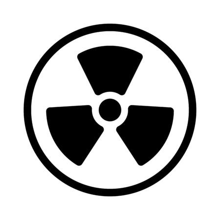 Signe nucléaire radioactif