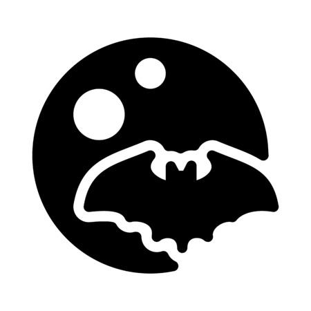 bat flying - halloween night