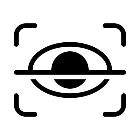 Retina Scan Security Illustration