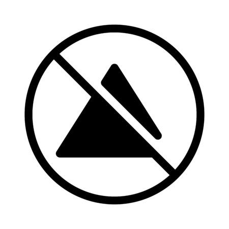 No Bleaching Sign Illustration