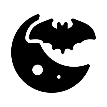 bat flying at night Vecteurs