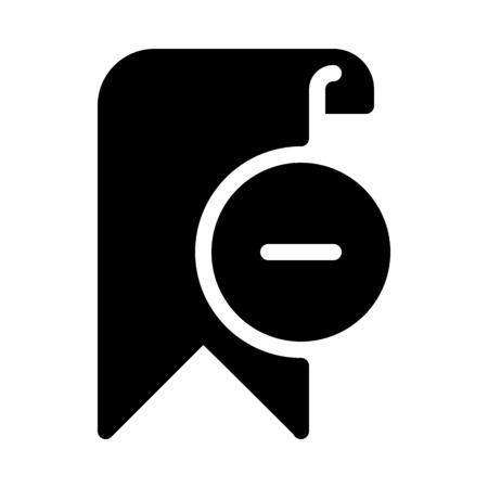 Remove Bookmark Symbol Vettoriali