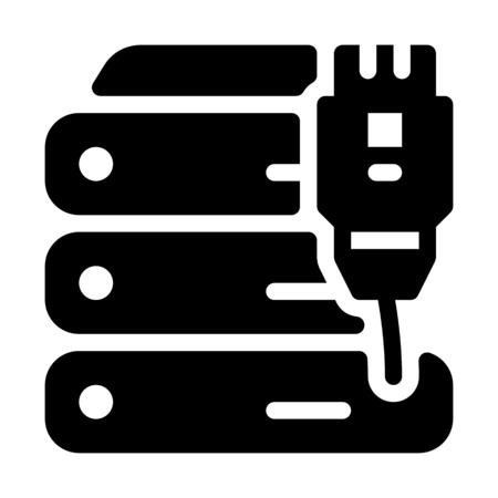 Server Wired Connection Illustration