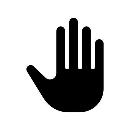 Stop gesture palm
