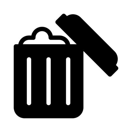 Trash can full Vecteurs