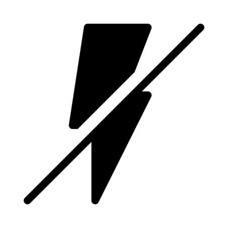 No flash symbol Çizim