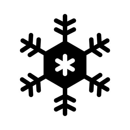Stellar dendrites snowflake Illustration