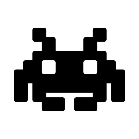 Space Invaders Character Vectores