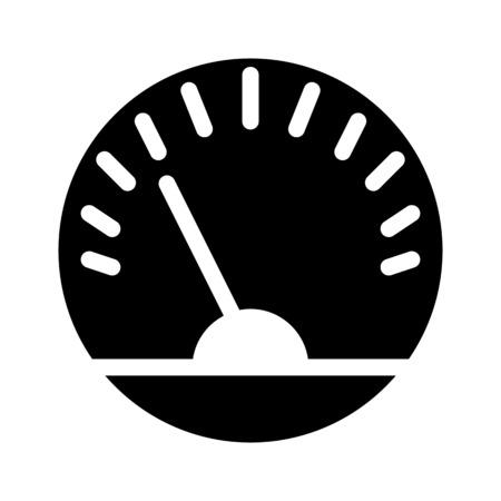 Dashboard Speed Meter Vektoros illusztráció