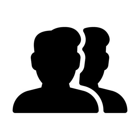 Men Group Profile Vector Illustratie