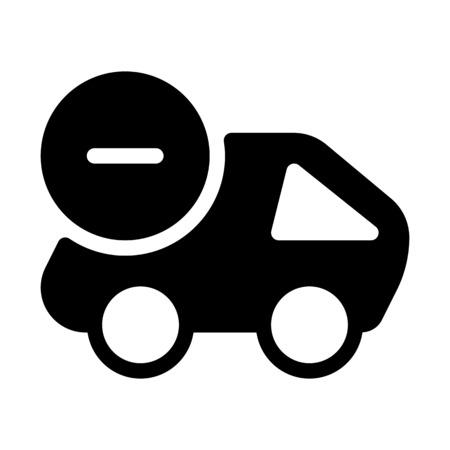 Cancel Delivery Shipment Векторная Иллюстрация