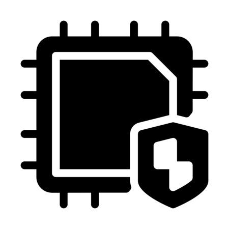 CPU Virus Protection 向量圖像