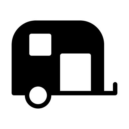 Vehical Attachment Caravan Illustration