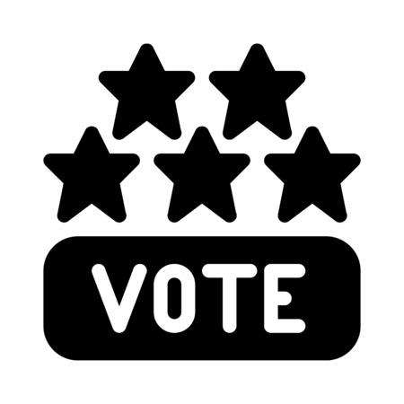 Vote Five Stars Stok Fotoğraf - 126157010