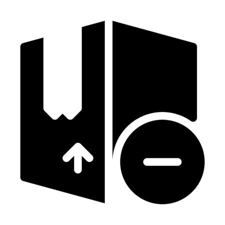 Remove Shipment Box Иллюстрация