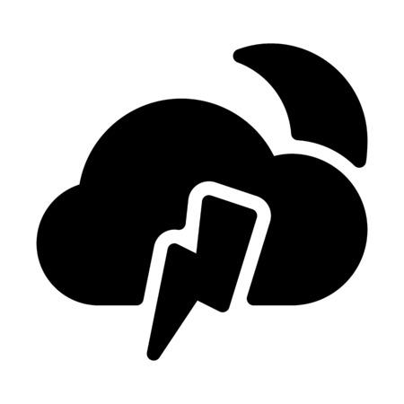Thunder lightning night-time