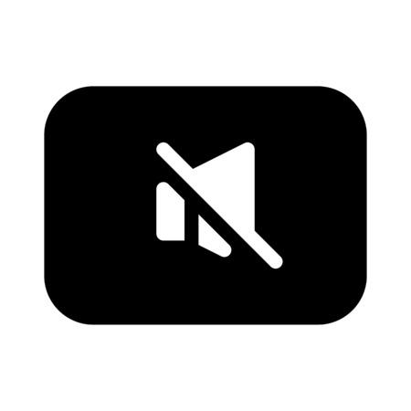 Audio Mute Key Vektorgrafik