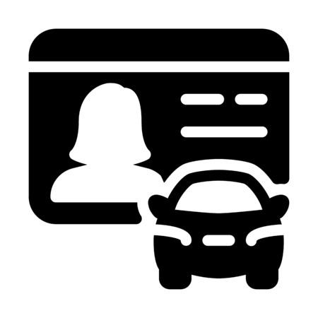 Licencia de conducir mujer Ilustración de vector