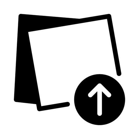Upload Sticky Notes Illustration