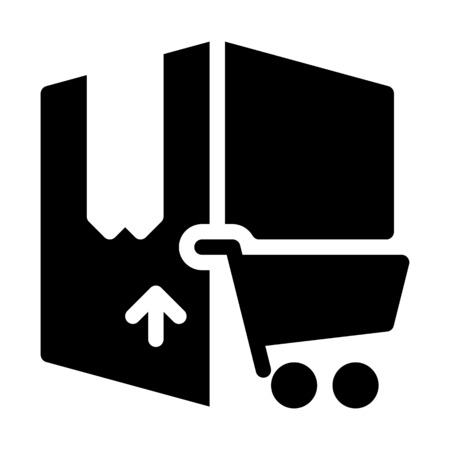 Online Shopping Delivery Banque d'images - 126157225