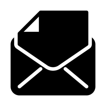 Mail with Attachment Ilustrace