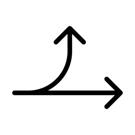Diverge Curve Arrow