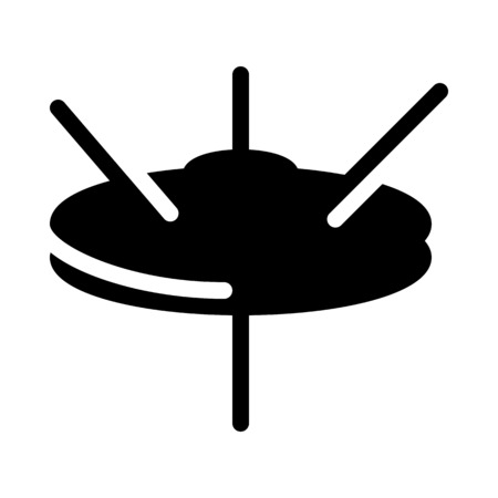 Cymbal Drumset Instrument Illustration