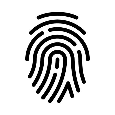 Impronta digitale o impronta del pollice Vettoriali