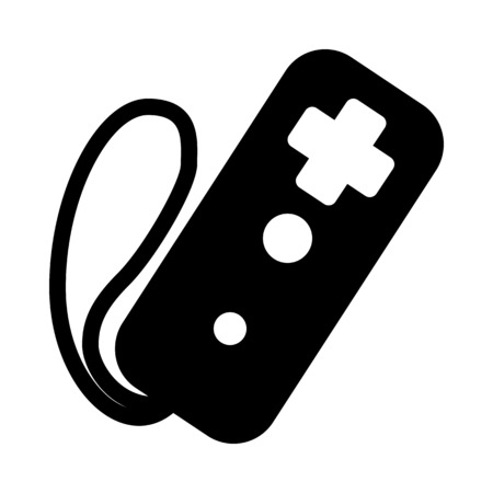 Wireless Gaming Controller Illustration