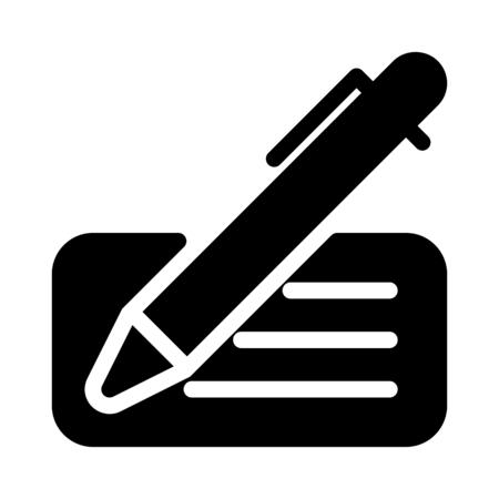 Cheque illustration