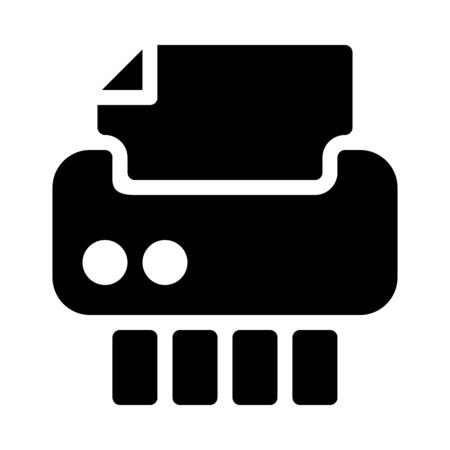 Paper Cutter or Shredder Stockfoto - 126157696