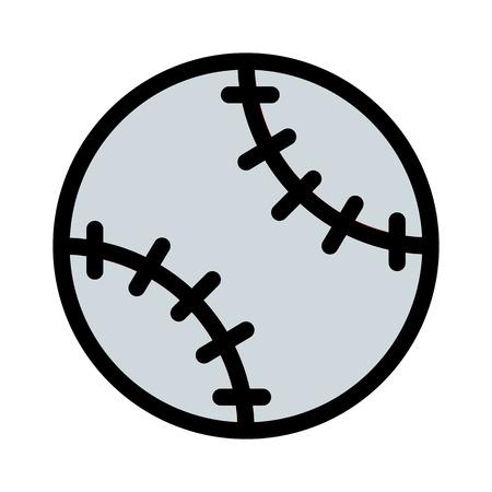 Baseball Stitched Softball Stock Illustratie